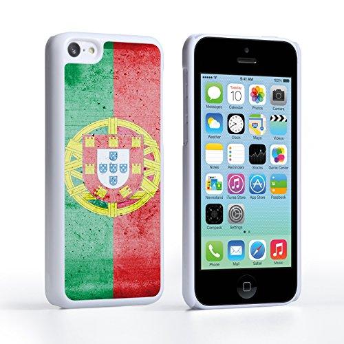 Caseflex iPhone 5C Hülle Retro Portugal Flagge Hart Schutzhülle