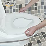 WANPOOL Portable Travel Disposable Paper Toilet Seat Cover – 50 Pieces