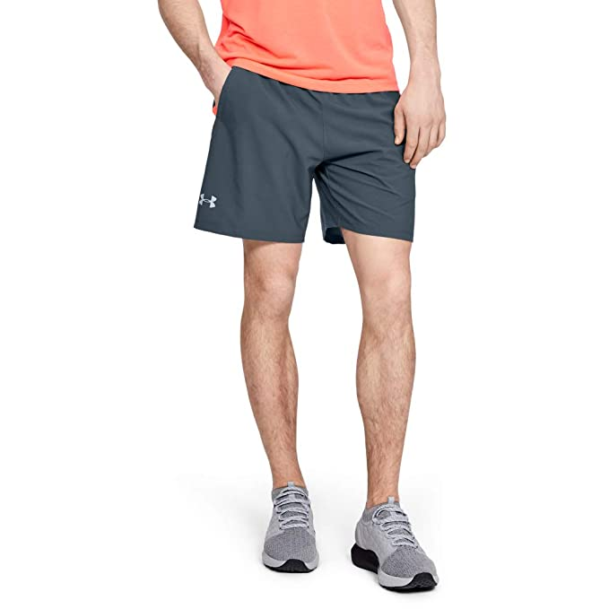 NAVISKIN Mens 5 Quick Dry Running Shorts Workout Woven Shorts Zip Pocket