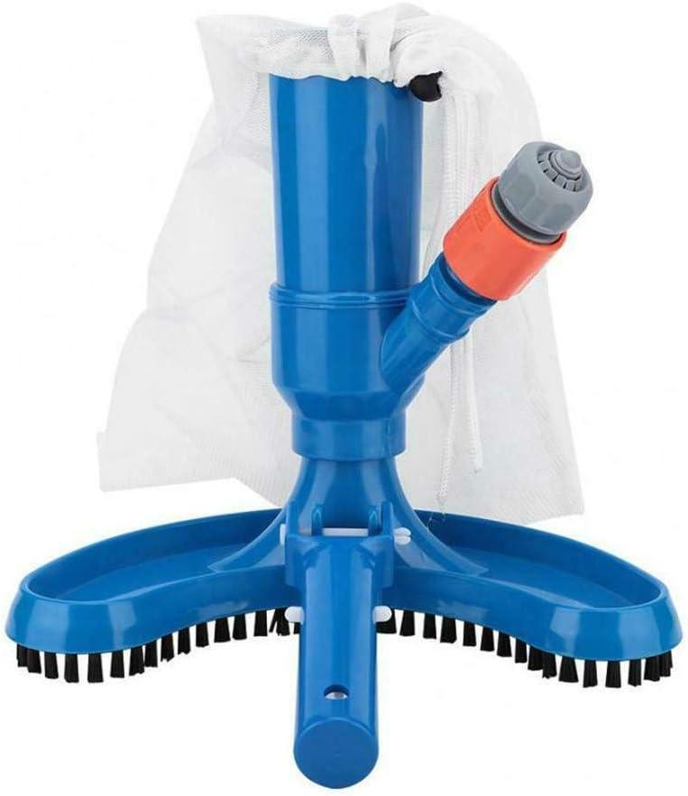 Bclaer72 Limpiador de piscina de chorro pequeño, limpiador de piscina de acoplamiento rápido, bandeja de succión para objetos domésticos, Hoover objetos flotantes, herramientas de limpieza