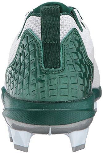Scarpa Da Baseball Adidas Uomo Man Freak X Carbon Mid, Bianco Ftw, Argento Met, Verde Scuro, 15 M Us