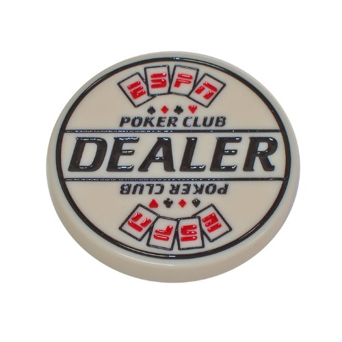 Trademark ESPN Engraved Dealer Button (White) by Trademark Global