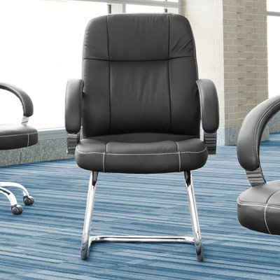 Leatherette Executive Conference Guest Chair Seat / Back Color: (Leatherette Guest Chair)