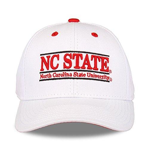 NCAA North Carolina State University The Game Bar Design Adjustable Hat, White (Nc Apparel State University)