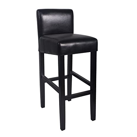 Brooklyn Contemporary Wood/Faux Leather Barstool - Black  sc 1 st  Amazon.com & Amazon.com: Brooklyn Contemporary Wood/Faux Leather Barstool ... islam-shia.org