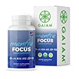 GAIAM Organic Mantra Focus Brain Support (Made in USA, USDA Organic Certified, Lemon Balm, Chamomile, Rosemary, Ginkgo Biloba) – 60 Capsules For Sale