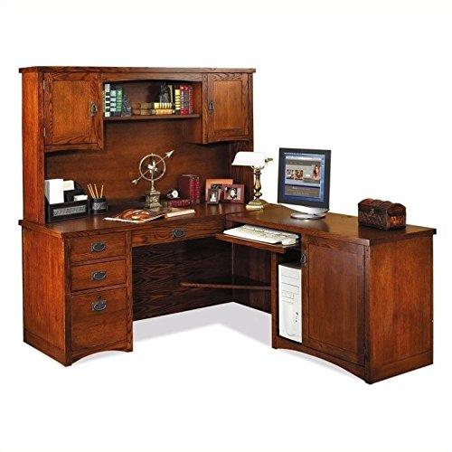 Martin Furniture Mission Pasadena L-Shape Desk with Hutch