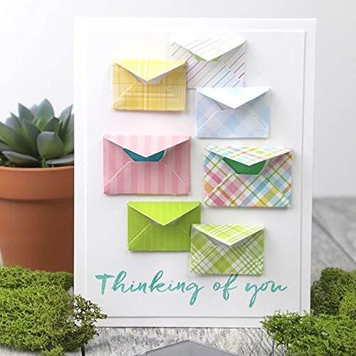 - Letmefun Pop up Envelope Cutting Dies, Metal Die Cuts Cutting Dies Stencil for DIY Scrapbooking Embossing Paper Cards Making Decorative Craft Supplies New Year