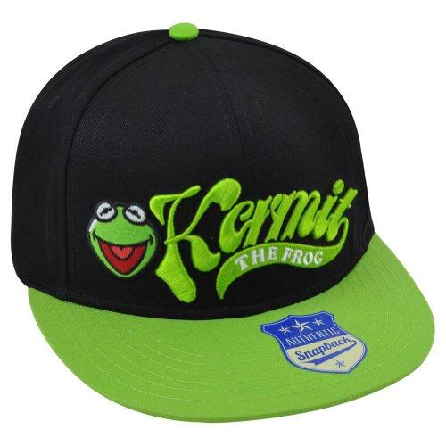 Two Tone Frog - Muppets Disney Kermit Frog Flatbill Adjustable Snapback Two Tone Green Hat Cap