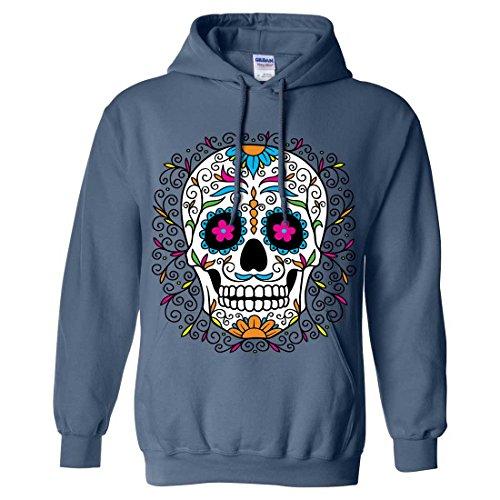 Dia De Los Muertos Pastel Sugar Skull Sweatshirt