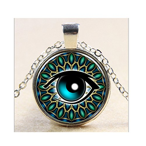 Sarah Coventry Chain (Darkey Wang Fashionable Women Demons Eye Time Glass Gem Necklace)