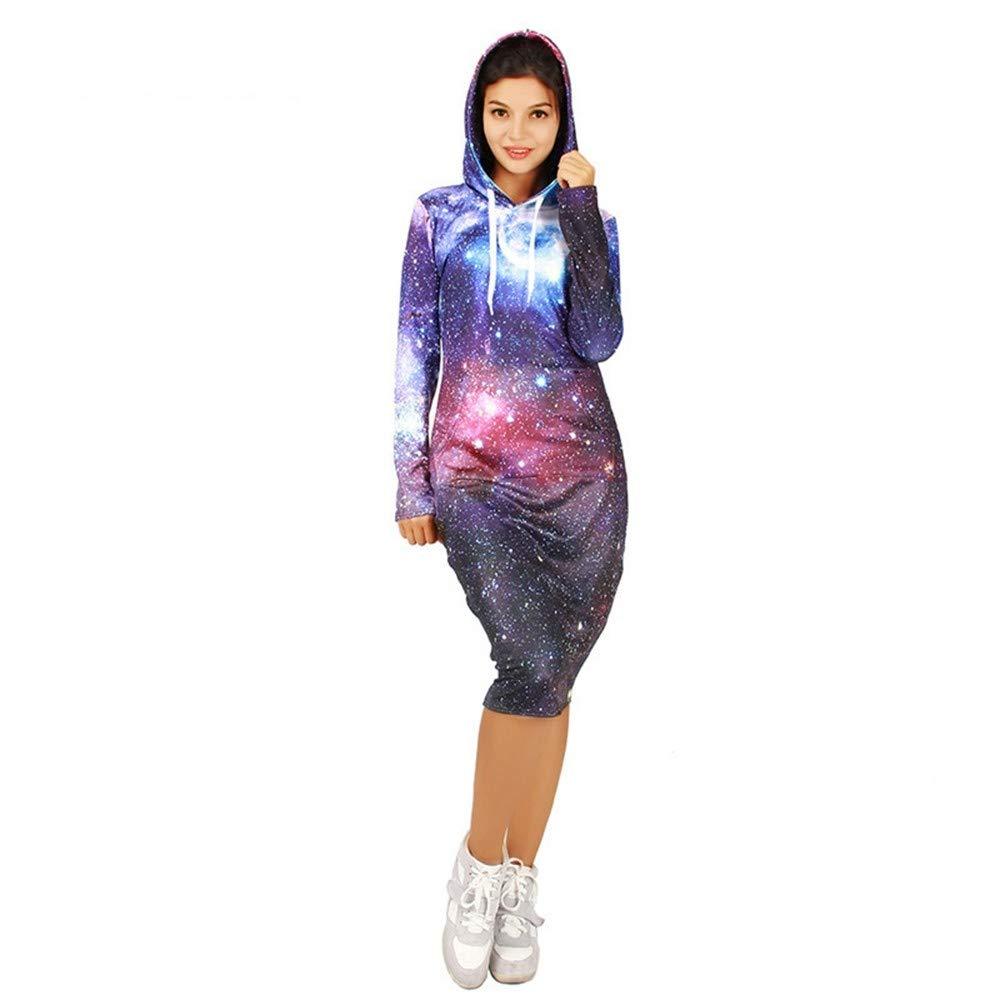 ZXMWY Herbst-Kollektion 3D Print Freizeit Hoodies Knielangen Voller Ärmel Sweatshirts Frauen Sportswear Trainingsanzüge