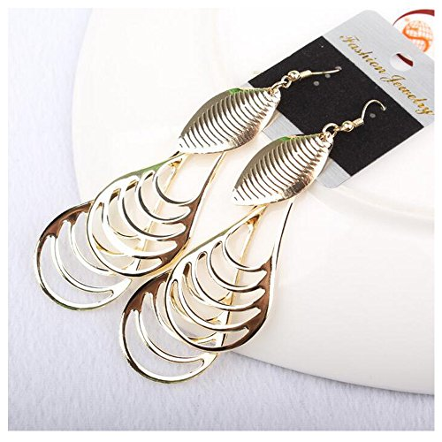 [Luck Wang Women's Unique Fashion Personality Hollow Earrings(Gold)] (Different Types Zombie Costumes)