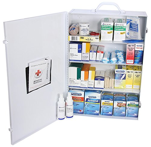 Pac-Kit by First Aid Only 6175 757 Piece Steel Cabinet Industrial 4 Shelf Wall Mountable First Aid Station