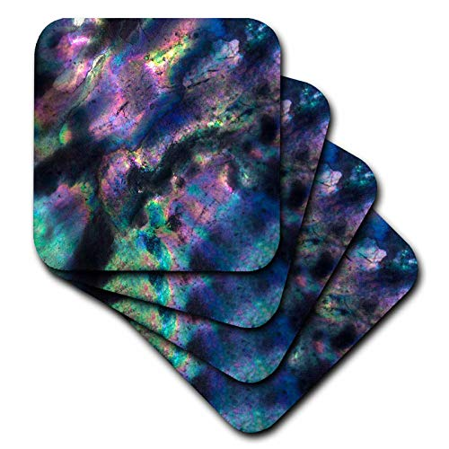 Iridescent Shell - 3dRose Danita Delimont - Abstracts - USA, California. Colorful iridescent abalone shell close-up. - set of 4 Ceramic Tile Coasters (cst_314614_3)