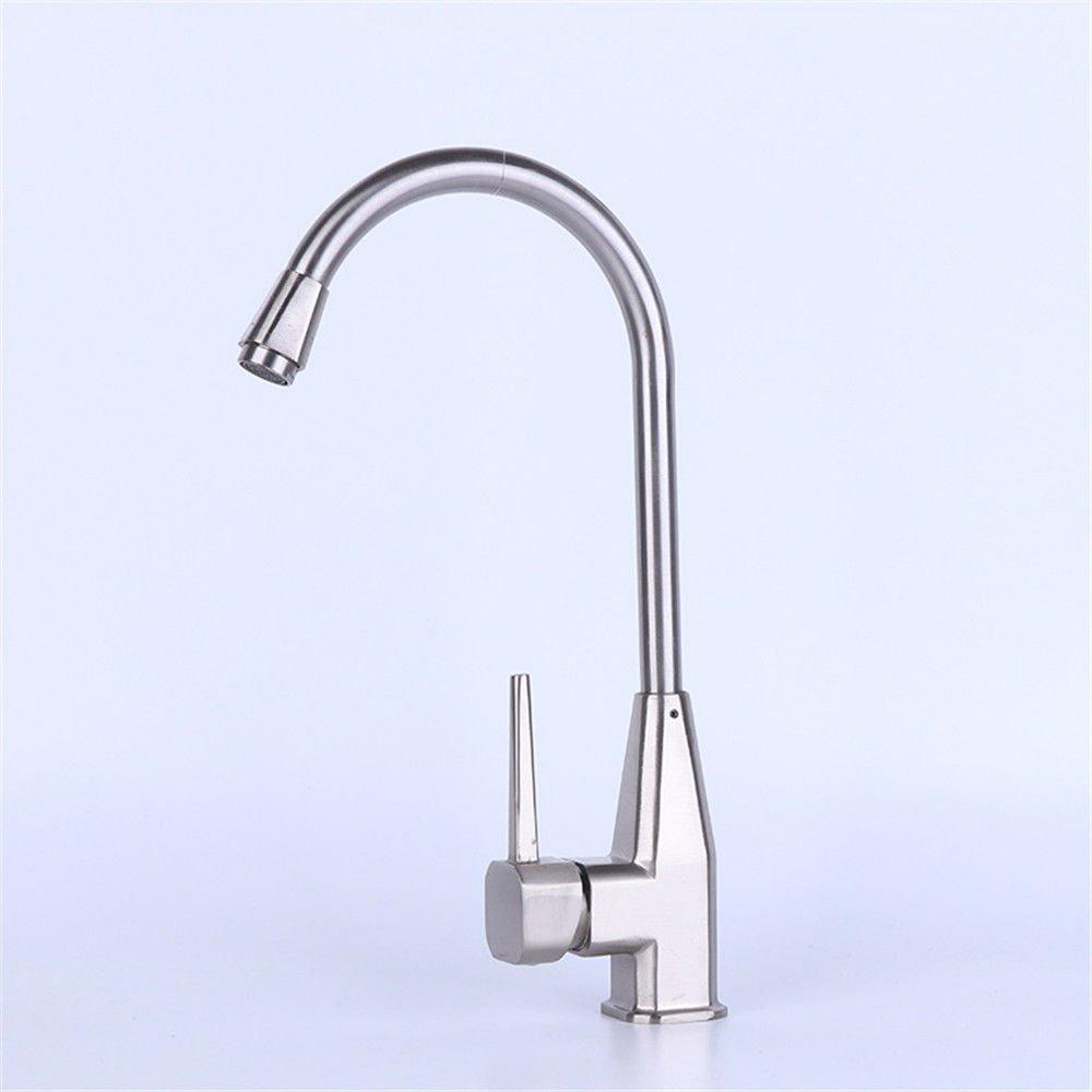 MEIBATH Wasserhahn Küche Mischbatterie Spülbecken Armatur Küchenarmatur Spültischarmatur Zinklegierung, Warmes und kaltes Wasser Wasserhahn