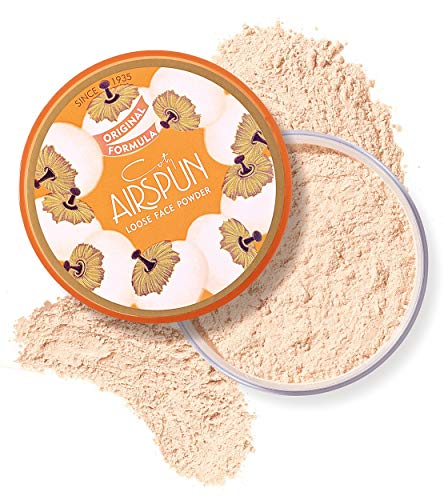 (Coty Airspun Loose Face Powder 2.3 oz. Translucent Tone Loose Face Powder, for Setting Makeup or as Foundation, Lightweight, Long Lasting)