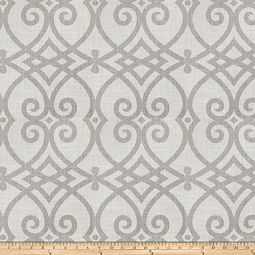 Jaclyn Smith 02616 Linen Dove Gray Fabric by The Yard (Jaclyn Smith Drapes)
