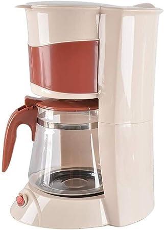 QZKFJ Máquina de café, Hogar Pequeño automática Una máquina Americana de Goteo Cafetera de Filtro de té elaboración de la Cerveza (Color : Beige): Amazon.es: Hogar