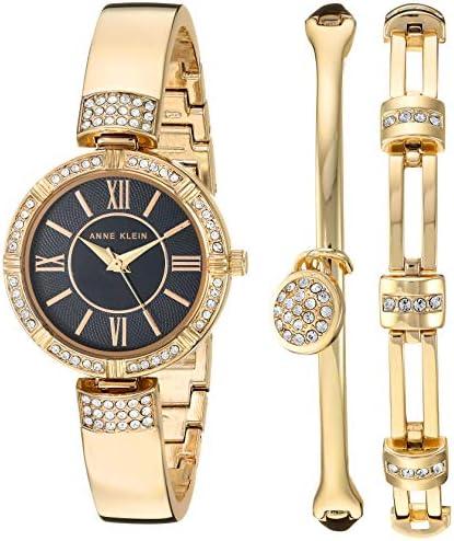Anne Klein Ladies Swarovski crystal accent watch and bracelet set