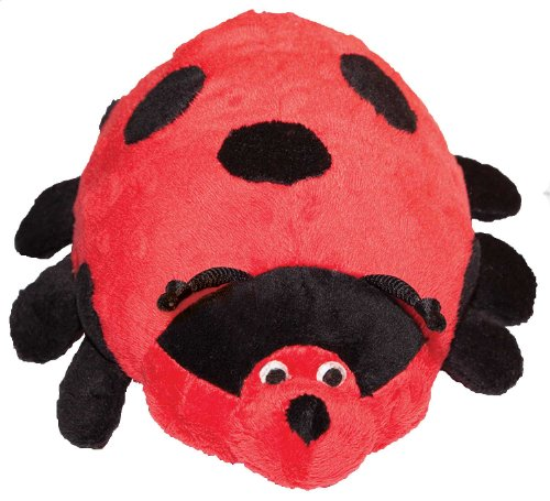 Patchwork Pet Pond Hoppers Ladybug 14-Inch Squeak Toy for Dogs ()