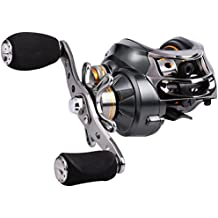 Sougayilang Baitcasting Reel, 12 Stainless Steel Bearings, 18LB Super Drag, Magnetic Tuned Dual Brakes Fishing Reel for Bass, Crappies, Perch, Trout, Walleyes and More