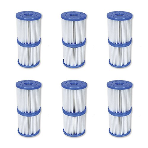 Best Way Cartridge Filter (Bestway Flowclear Type V/Type K 330 GPH Replacement Filter Cartridge (6 Pack))