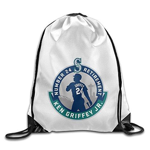 Justin Junior Bay (Bekey Ken Griffey Jr. Logo Training Gymsack For Men & Women For Home Travel Storage Use Gym Traveling Shopping Sport Yoga Running)