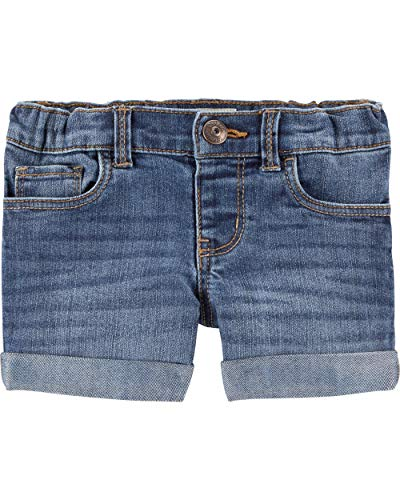 (Osh Kosh Girls' Toddler Denim Shorts, Oceana Blue Wash, 4T)