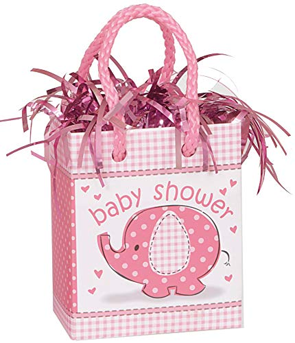 Pink Elephant Girl Baby Shower Balloon Weight -
