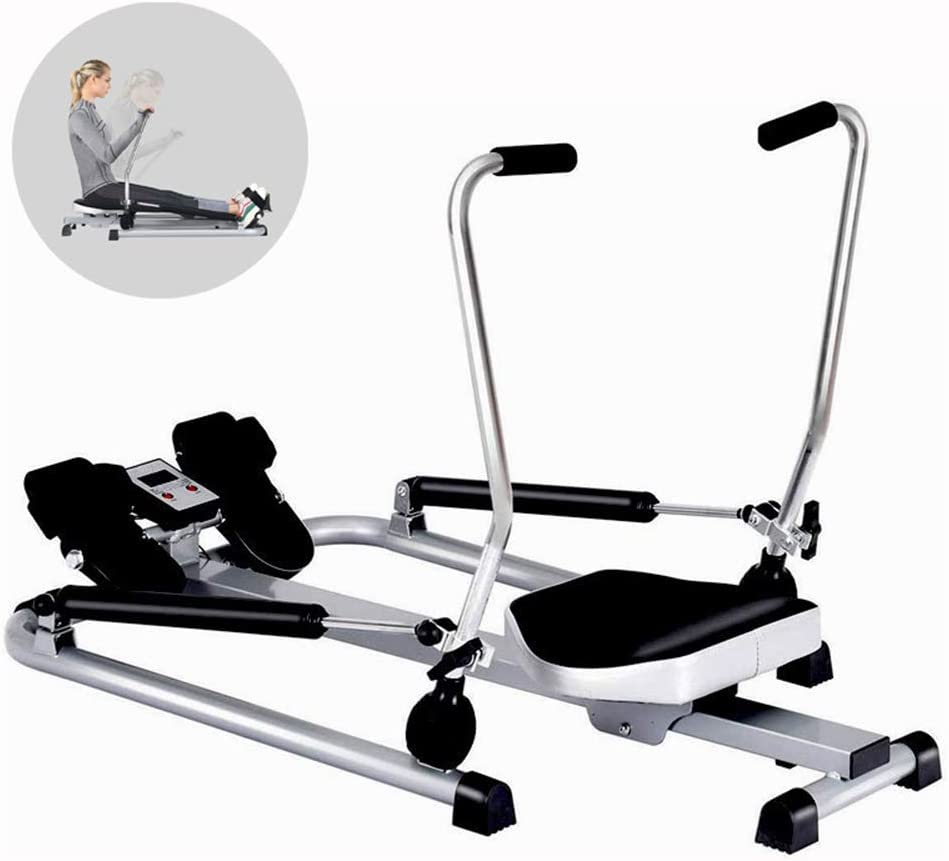 HAOSHUAI Home Foldable Rowing Machines,MultiFunction Hydraulic Silent Slimming Fitness Equipment,Adjustable Resistance Aerobic Exercise Compact Folding Rowing Machine