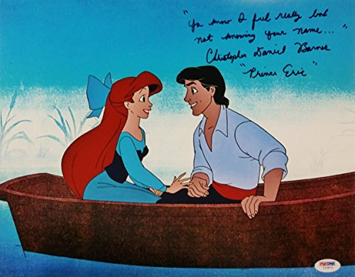 Christopher Daniel Barnes Signed Little Mermaid Quote 11x14 Photo PSA Auto A (Mermaid Signed)