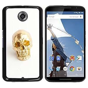 Be Good Phone Accessory // Dura Cáscara cubierta Protectora Caso Carcasa Funda de Protección para Motorola NEXUS 6 / X / Moto X Pro // Nugget Scull White Minimalist Bling