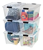 IRIS Quart Stack & Pull Box, Clear