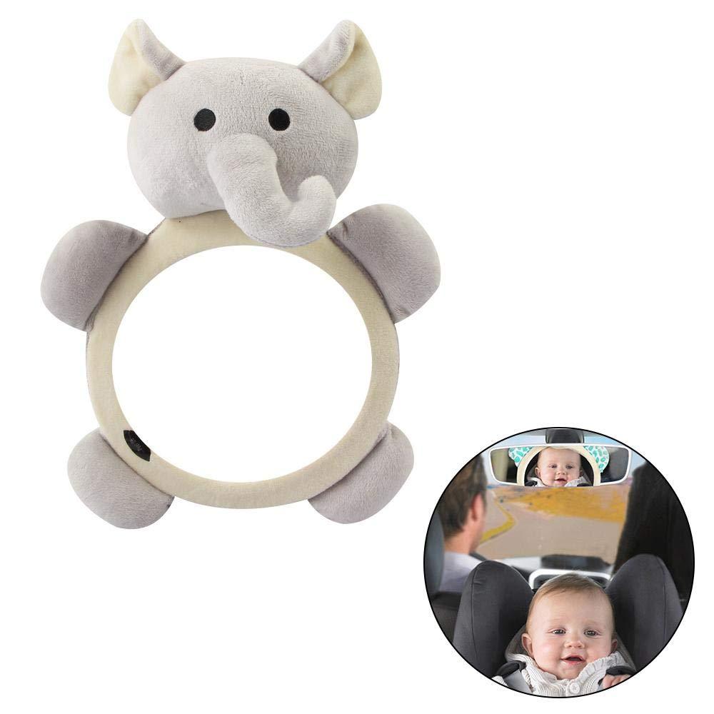 MOGOI Baby Auto Spiegel f/ür R/ücksitz um EIN Auge auf Baby oder Kinder zu behalten,3 niedliche Pl/üschtier Spielzeug Baby Spiegel f/ür Auto R/ückansicht bruchsicher Baby Auto Sitz Spiegel
