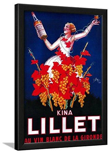 - Kina Lillet Vintage Poster - Europe Framed Lamina, Black