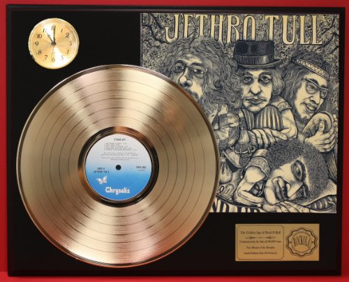 Jethro Tull Stand Up LTD Edition 24Kt Gold LP Record & Clock Display Quality Collectible from Gold Record Outlet