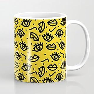 Giallo tazza di ceramica piena Eyes cute Christmas 311,8gram tazze per bambini