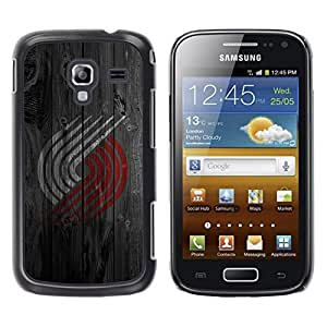 Be Good Phone Accessory // Dura Cáscara cubierta Protectora Caso Carcasa Funda de Protección para Samsung Galaxy Ace 2 I8160 Ace II X S7560M // Red White Logo Wood
