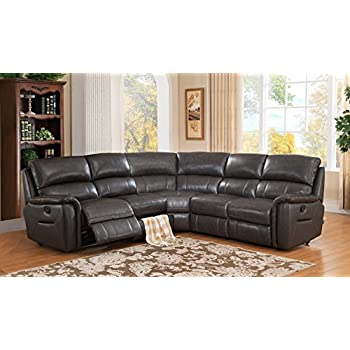 hydeline amax leather camino leather motion sectional sofa charcoal grey kitchen. Black Bedroom Furniture Sets. Home Design Ideas
