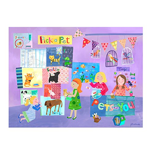 Oopsy Daisy Pick A Pet Stretched Canvas Art, 40'' x 30'' by Oopsy Daisy