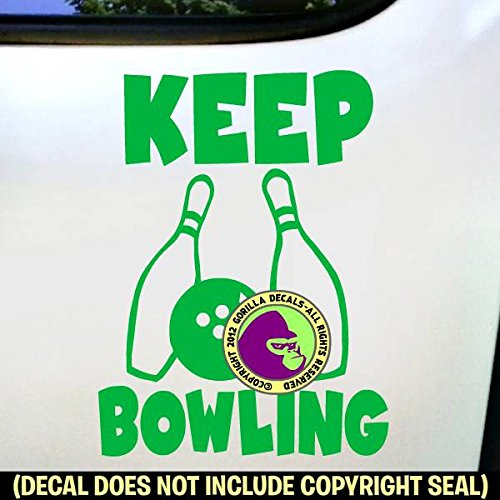 KEEP BOWLING Vinyl Decal Sticker C