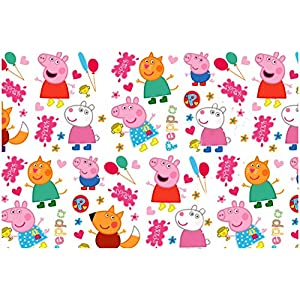 Accuprints Pack of 5 | Design Peppa Pig | Size 18 X 25 inch | Wrapping Paper Sheets for Birthday Gift Books Kids…