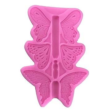 Ogquaton Molde para Hornear de Silicona Fondant Mould DIY Forma de la Mariposa Craft Mould Cake Mold Suministros de Cocina para el Chocolate Cupcakes de ...