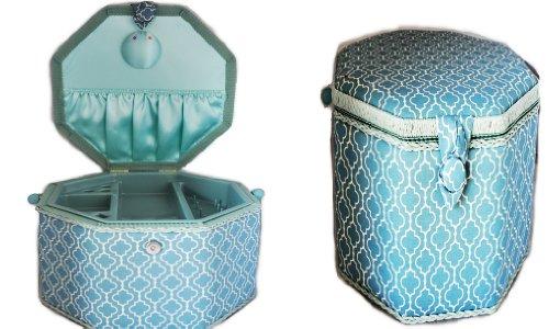 Light Blue Octagonal Hobby Box