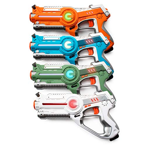 USA Toyz Kids Laser Tag Guns Laser Tag Sets Battle Box 4 Pk Lazer Tag Gun Set with Multiplayer Laser Tag Guns for Kids