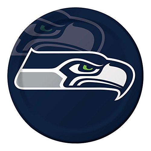 Creative Converting Officially Licensed NFL Dinner Paper Plates, 96-Count, Seattle Seahawks - 429528