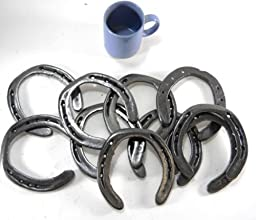 10 Pc New (old look) Cast Iron Horseshoes for Crafting Size1