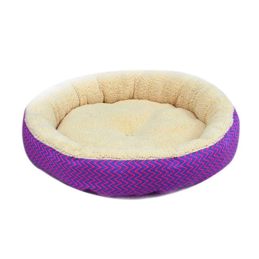 Purple S 35cm Purple S 35cm SHYPwM Cotton Dog Bed Cat Bed Soft Cushion Warm Dog House Foldable Pet Sleeping Bag Bed Puppy Nest Kennel (color   Purple, Size   S 35cm)