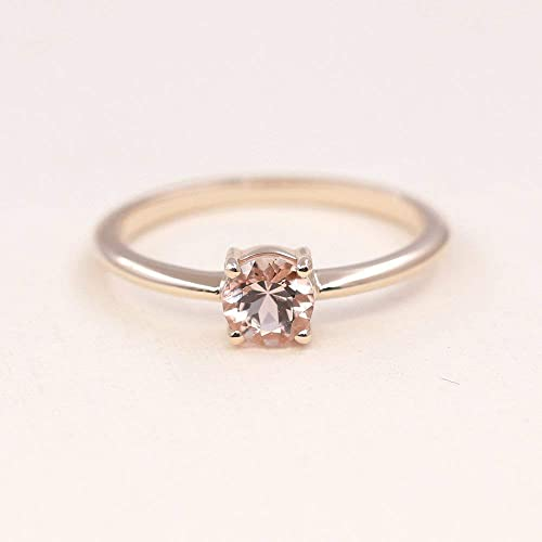 Simple Wedding Ring.Amazon Com Morganite Solitaire Ring Dainty Simple Engagement Ring